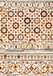 Ancient decorative mosaic on marble, India