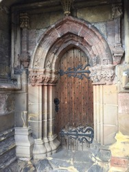 Ancient door at Roslyn chapel
