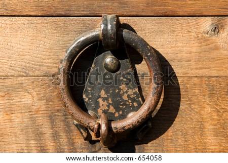 Ancient Door Handle - made of wroughtiron