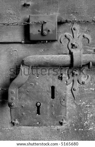 Ancient door lock