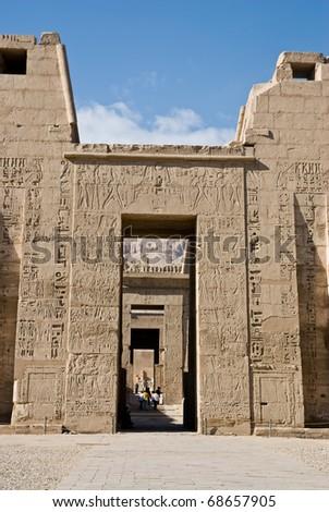 Ancient Doorway of Medinet Habu Temple,Egypt,Luxor