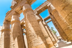 Ancient Egyptian Temple of Karnak (ancient Thebes). Luxor, Egypt.