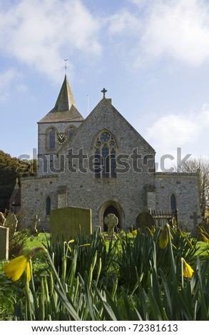 Ancient English church in Normans Bay Sussex, UK