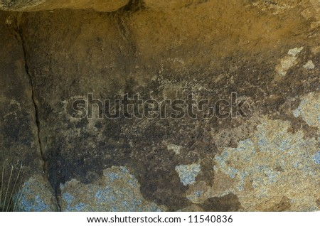 Ancient figures on the the stone