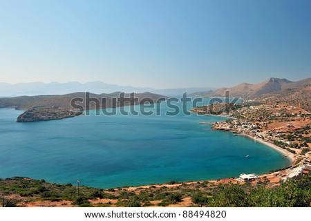 Ancient fortress of Spinalonga Island, Crete, Greece