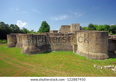 Ancient fortress (royal fortress) of Suceava in Romania