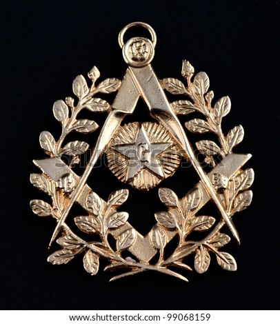 ancient freemasonry golden medal