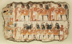 Ancient fresco on the stone 3