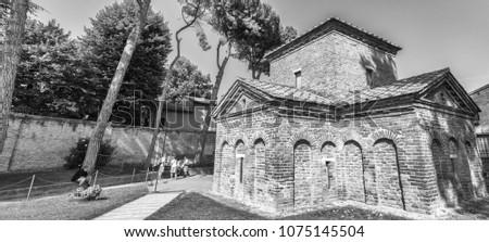 Ancient Galla Placidia mausoleum in Ravenna, Italy.