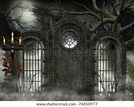 ancient gate - gothic background