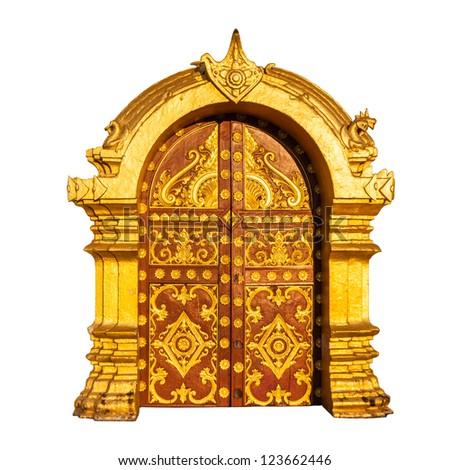 Ancient Golden Door Laos Stock Photo 123662446 Shutterstock