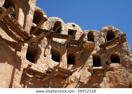 Ancient granary in Kabaw, Libya