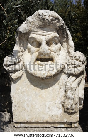 Ancient grave in the cemetery - Bodrum Turkey