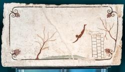 Ancient Greek Fresco: Diver's Tomb, Paestum