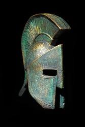 Ancient Greek Helmet Sparta Style in Low Key