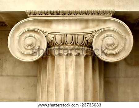 Ancient Greek ionic capital