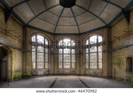 ancient hall - stock photo