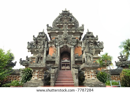 ancient hindu temple at bali