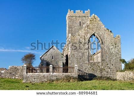 Ancient historical irish religious friary in Ennis county clare in Ireland.