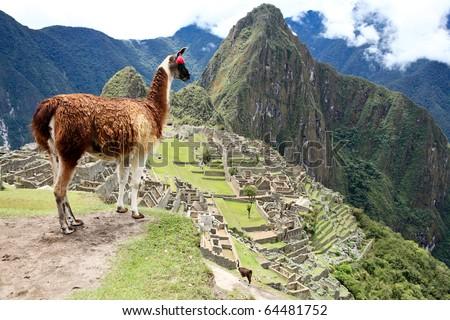 Ancient Inca lost city Machu Picchu, Peru. #64481752