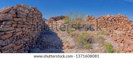 Ancient Indian Ruins on Sullivan Butte in Chino Valley AZ. Could be Sinagua or Yavapai in origin.