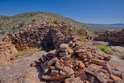 Ancient Indian Ruins on top of Sullivan Butte in Chino Valley AZ. I spoke to the local residents about the ruins and nobody knows what tribe might have built these ruins.