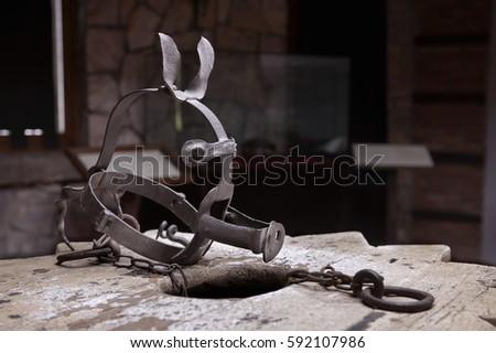 Ancient instrument of torture. ストックフォト ©
