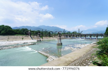 Ancient irrigation system in Dujiangyan City, Sichuan province of China.