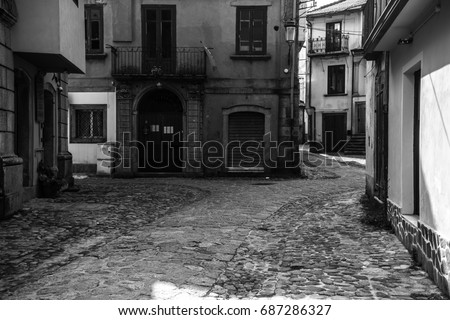Ancient italian vintage streets