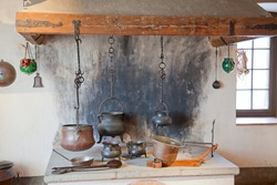 Ancient kitchen of the old casle
