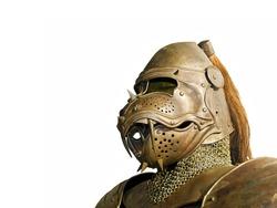 Ancient knight metal armor