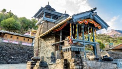 Ancient Lakha Mandal temple which is dedicated to lord Shiva, Chakrata