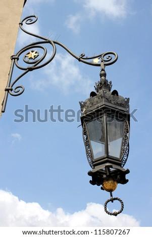 ancient lamp - stock photo