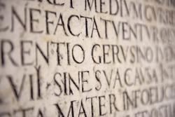Ancient Latin Inscription
