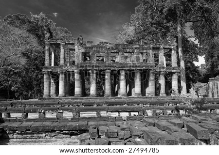 Ancient library in Preah Khan, Cambodia