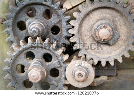 Ancient machinery - stock photo