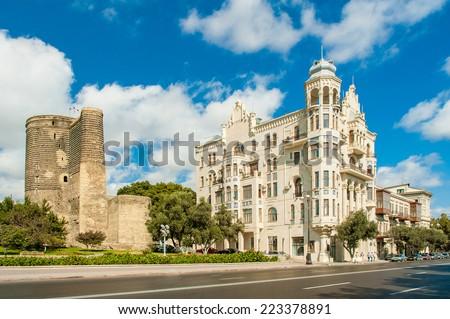 Ancient Maiden Tower in Baku Azerbaijan