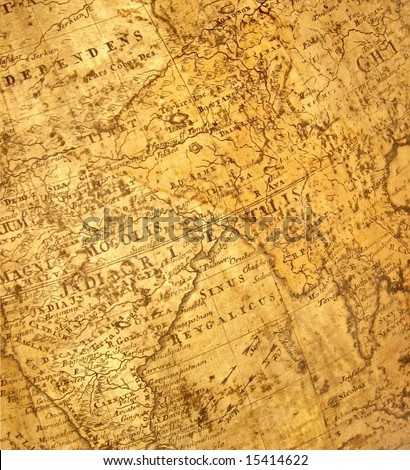 ancient map  (india in the middle)
