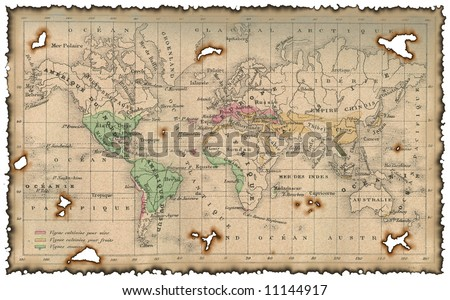 Ancient map of the world #11144917