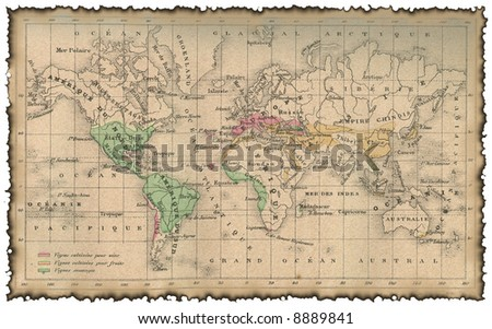 Ancient map of the world #8889841