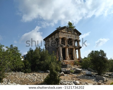 ancient mausoleum of Silifke Cilicia