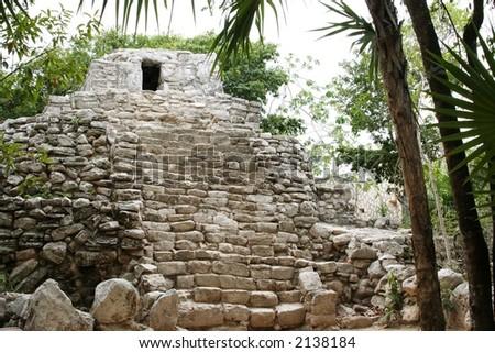 Ancient Maya city Mexico Xcaret