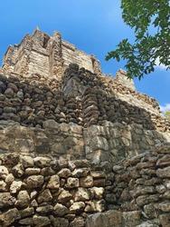 Ancient Maya Pyramid in Muyil