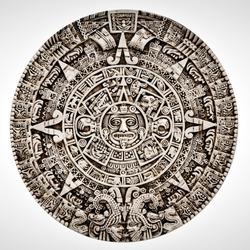 Ancient Mayan Calendar Glyphs