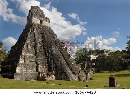 ancient mayan ruins, peten basin, tikal, guatemala , latin america, old pyramids