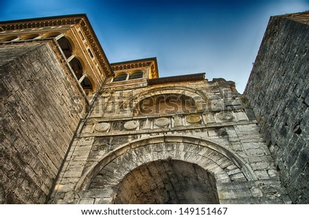 Ancient medieval architecture of Perugia in Umbria - Italy.