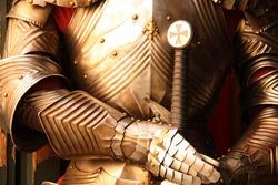 Ancient metal armor - iron detail.