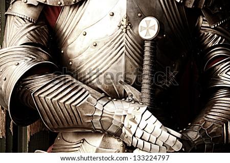 Ancient metal armor - iron detail. Stock photo ©