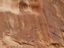 ancient native american petroglyphs in the three fingers canyon of the san rafael swell, near green river , utah
