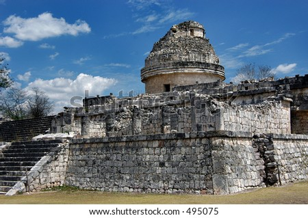 Ancient observatory in Chichen Itza, Mexico